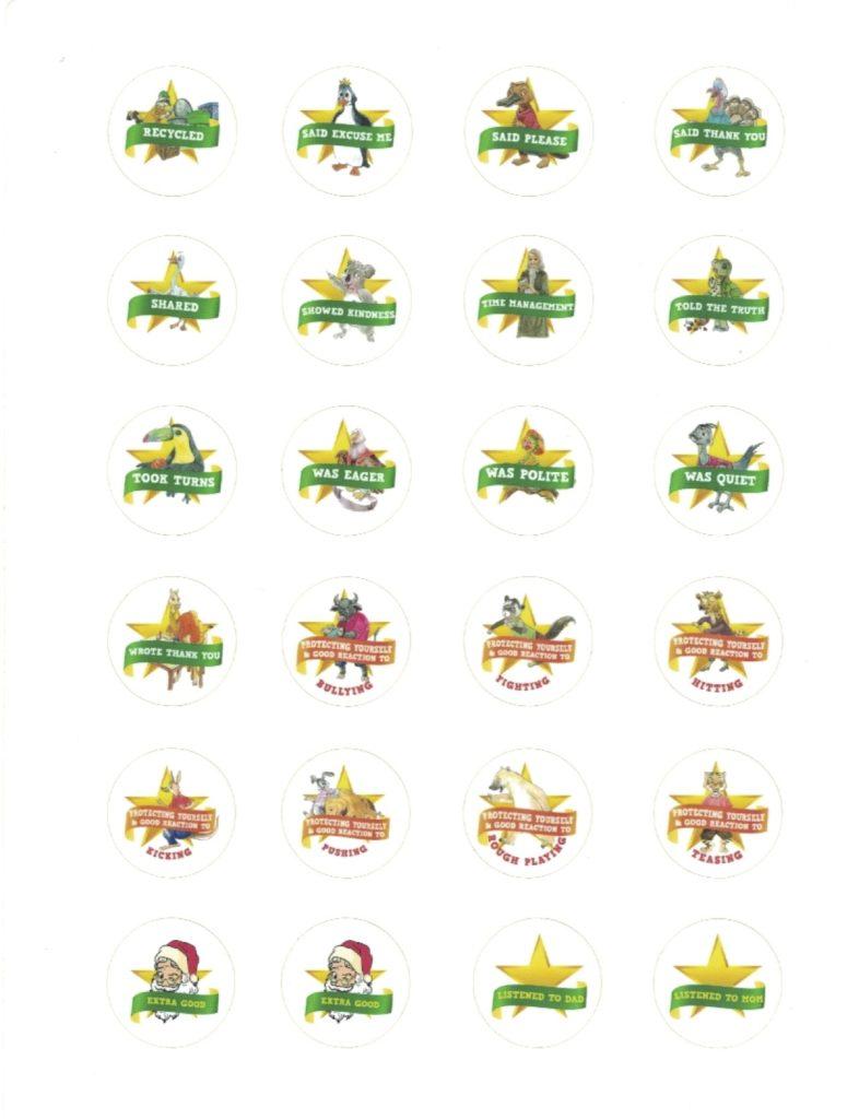 Gold Star Reward Stickers for over 65 Behaviors