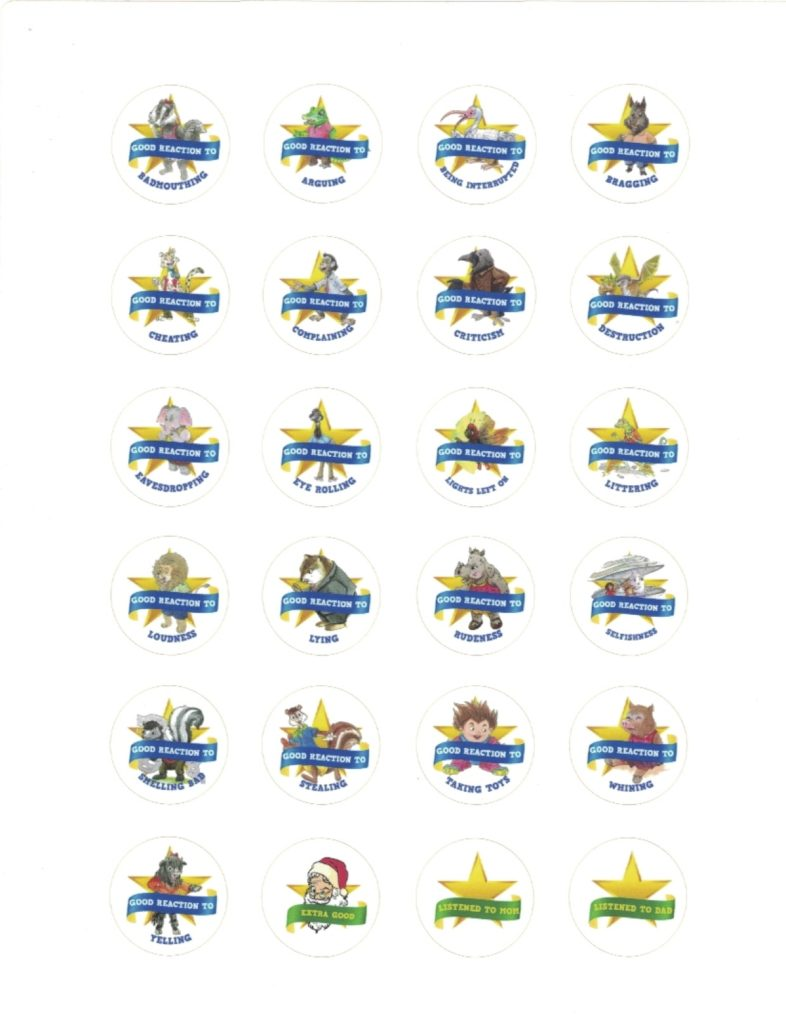 Gold Star Reward Stickers for over 65 behaviors